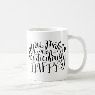 Glückliche Kaffee-Tasse Kaffeetasse