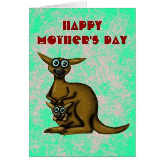 Glückliche Karte der Mutter des lustigen Kängurus