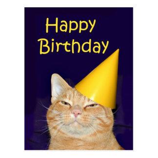 Glückliche Katze alles Gute zum Geburtstag Postkarte