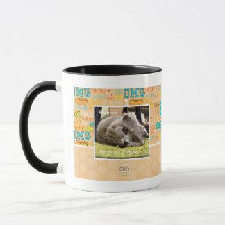Glückliche Katze, aus glücklichem heraus Tasse