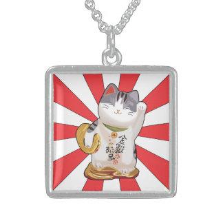 Glückliche Katze B Sterling Silberkette