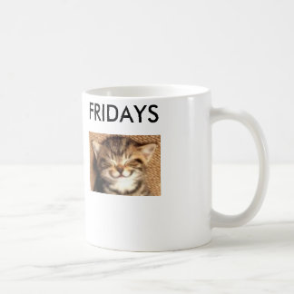 Glückliche Katzen-Freitag-Tasse Kaffeetasse