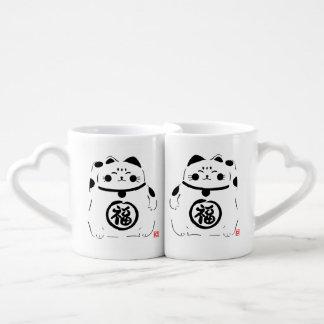Glückliche Katzen-Paare Tassen