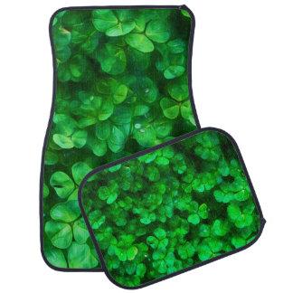Glückliche keltische irische grüne Kleeblätter Automatte