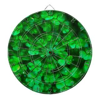 Glückliche keltische irische grüne Kleeblätter Dartscheibe