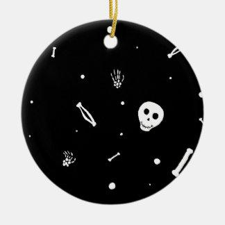 Glückliche Knochen Rundes Keramik Ornament
