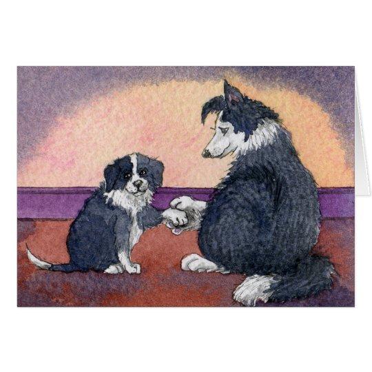 Glückliche Krankenschwester-Tageshund- und -welpe Karte