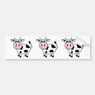 Glückliche Kuh - kundengerecht! Autoaufkleber
