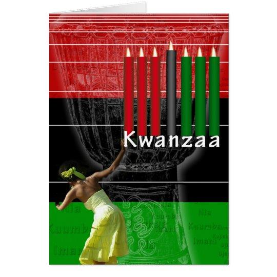 Glückliche Kwanzaa-Karte Grußkarte