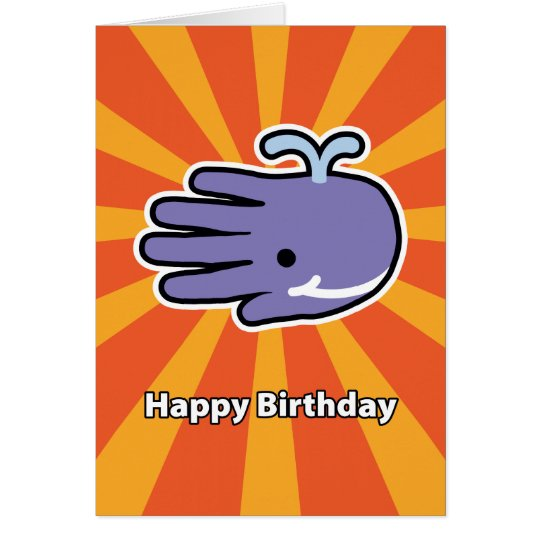 Glückliche Lächeln-Wal-Geburtstags-Karte Grußkarte