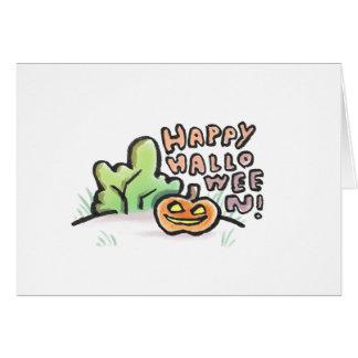 Glückliche leere Gruß-Karte Halloweens {Halloween} Karte