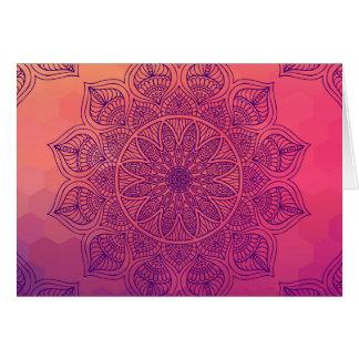Glückliche Mandala Karte