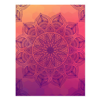 Glückliche Mandala Postkarte