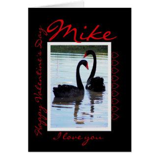 Glückliche Mike des Valentines Tages Karte
