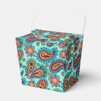Glückliche Minze und orange Paisley-Muster Geschenkschachtel