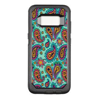Glückliche Minze und orange Paisley-Muster OtterBox Commuter Samsung Galaxy S8 Hülle