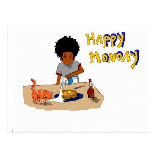 Glückliche Montag-Postkarte Postkarte