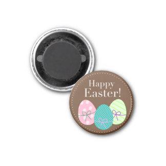 Glückliche Ostereier Runder Magnet 3,2 Cm