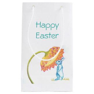 Glückliche Osterhasen-Geschenktasche Kleine Geschenktüte