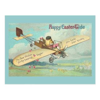 Glückliche Ostern-Gezeiten Geldstrafe-Vintager Postkarte