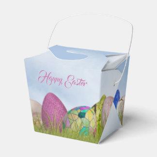 Glückliche Ostern- - Osterei-Blumenphotographie Geschenkschachtel