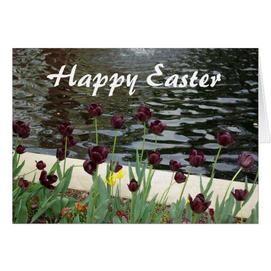 Glückliche Ostern-Tulpe-Karte Grußkarte