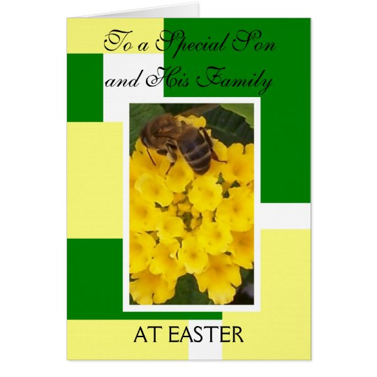 Glückliche Osternsohn-und Grußkarte