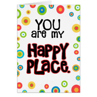 Glückliche Platzvalentine-Liebe Karte