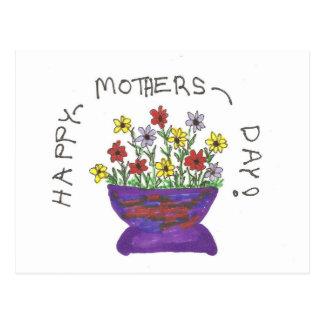 Glückliche Postkarte der Mutter Tages