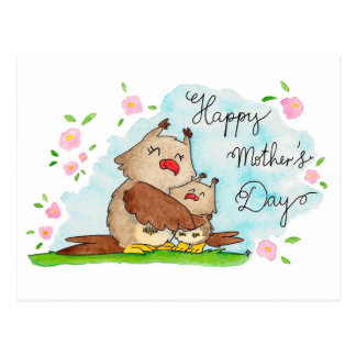 Glückliche Postkarte der Mutter Tagesdurch Nicole