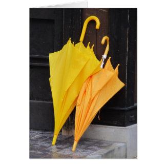 Glückliche Regenschirme - TBD Reihe Karte