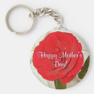 Glückliche Rote Rose der Mutter Tages Schlüsselanhänger