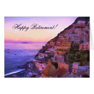 Glückliche Ruhestand Positano Italien Karte