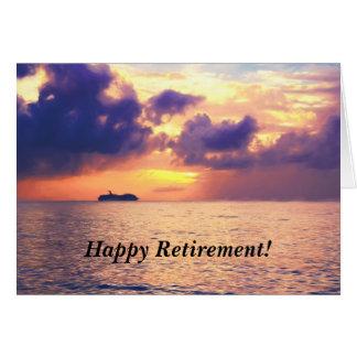 Glückliche Ruhestands-Kreuzfahrt in der Karte