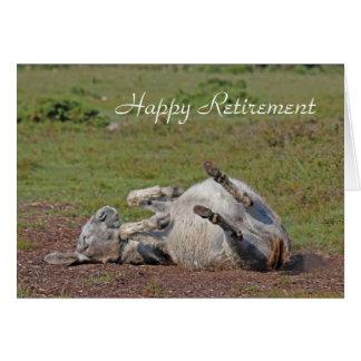 Glückliche Ruhestandskarte des Esels Karte