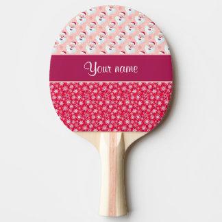 Glückliche Sankt und Schneeflocken personalisiert Tischtennis Schläger
