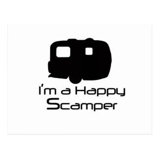 Glückliche Scamper-Scherzartikel! Postkarte