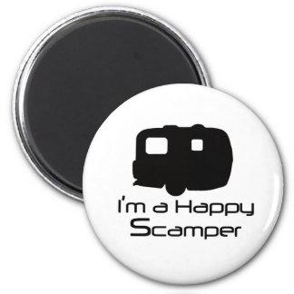 Glückliche Scamper-Scherzartikel! Runder Magnet 5,1 Cm