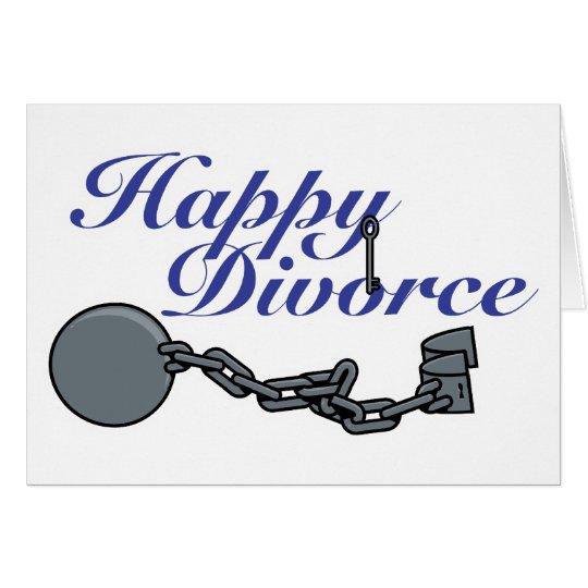 Glückliche Scheidung Grußkarte