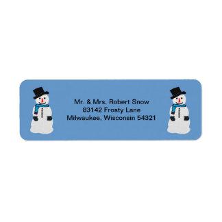 Glückliche Schneemann-Adressen-Etiketten