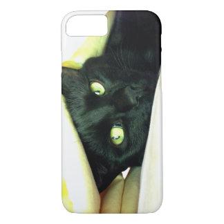Glückliche schwarze Katze iPhone 8/7 Hülle