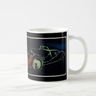 Glückliche schwarze Katzen-und Sport-Auto-Tasse