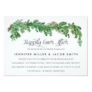 Glückliche seitdem Grün-Hochzeits-Einladung 12,7 X 17,8 Cm Einladungskarte