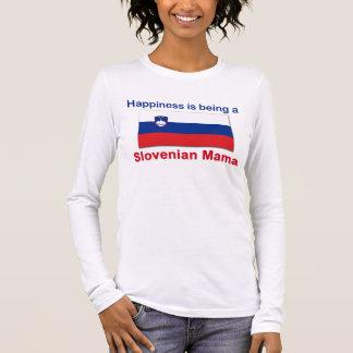 Glückliche slowenisch Mutter Langarm T-Shirt