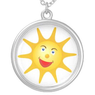 Glückliche Sonne Versilberte Kette