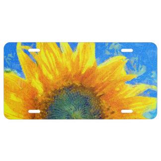 Glückliche Sonnenblume US Nummernschild