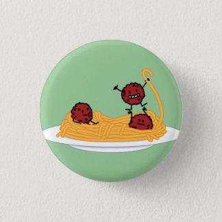 Glückliche Spaghettis und Fleischklöschen Runder Button 2,5 Cm