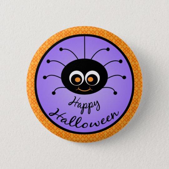 Glückliche Spinne Halloweens Toon Runder Button 5,1 Cm
