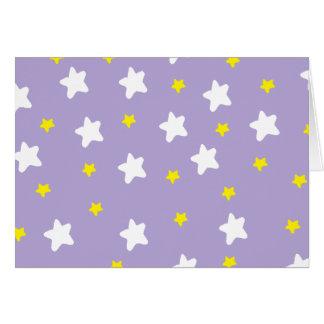 Glückliche Sterne lila Karte