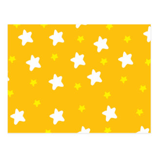 Glückliche Sterne orange Postkarte